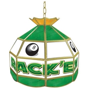 Rack'em 8-Ball Stained Glass Tiffany Lamp - 16 inch diameter