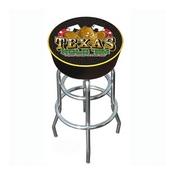 Texas Hold 'em Logo Padded Bar Stool