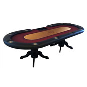 Texas Hold'em Poker Table with Dealer Area and Furniture Style
